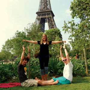 TU students studying abroad in Paris, France.