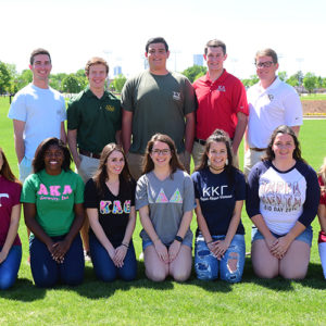 Greek Life members from each fraternity and sorority.