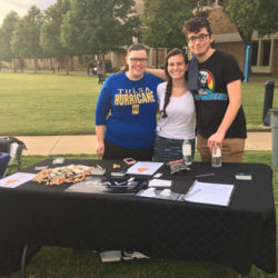 CRAVE members at their booth during the annual activities fair on campus.