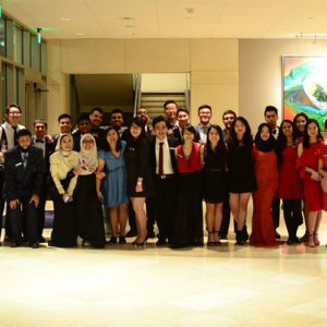 Group photo of members of AIS after one of their annual events.