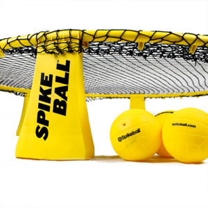 close up view of spikeball equipment