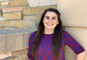 Bachelor of science in nursing student Laura Nichols outside at The University of Tulsa