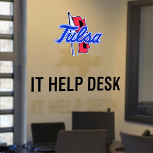 IT help desk door