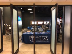 TU's esports and gaming lounge entrance in Fisher East