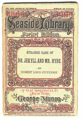 Cover of Seaside Library's pirated edition of Dr. Jekyll and Mr. Hyde