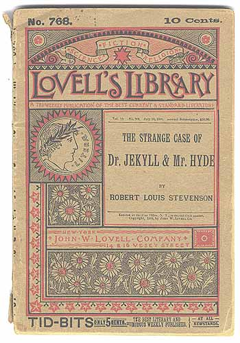 Cover of Lovell's Library pirated edition of Dr. Jekyll and Mr. Hyde