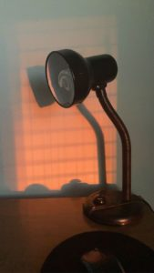 Small black desk lamp